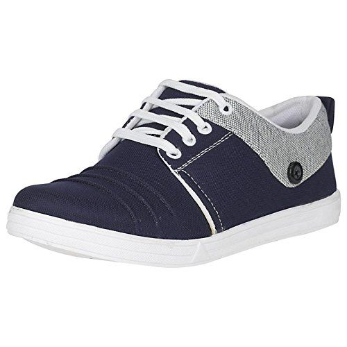 IAddicted Black Lace-up Canvas Casual Shoes