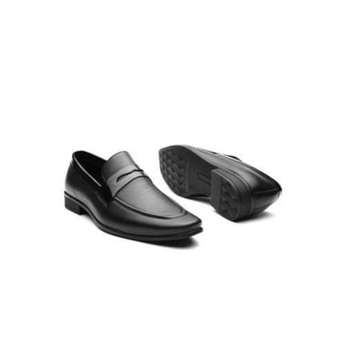 INVICTUS Men Black Solid Formal Slip-Ons