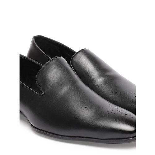 INVICTUS Men Black Formal Slip-Ons
