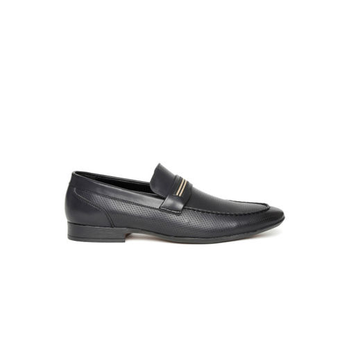 San Frissco Men Black Perforated Semiformal Shoes