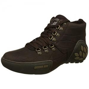 Woodland Men's Brown Leather Sneakers-10 UK/India (44 EU) (GC 1869115)