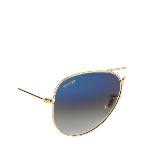 Voyage Unisex Blue & Gold-Toned Aviator Sunglasses 3026MG2383