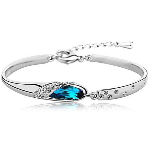 Shining Diva Crystal Crystal Platinum Bracelet