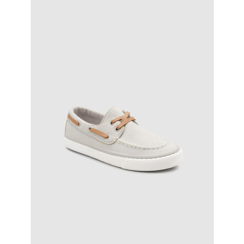 next Boys Grey Boat Shoes