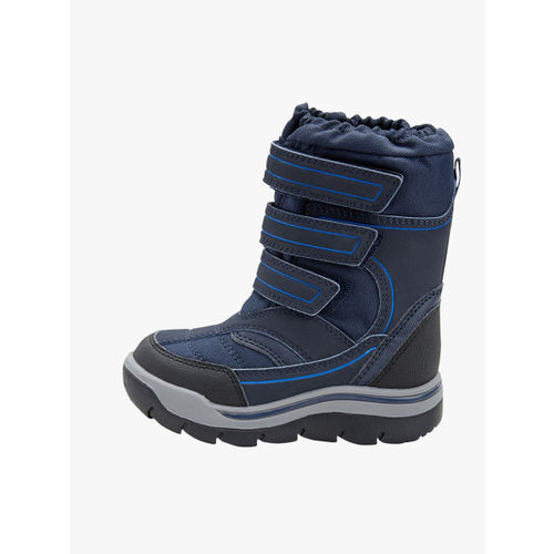 next Boys Blue Solid High-Top Flat Boots