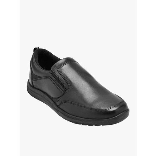 next Boys Black Leather Regular Loafers
