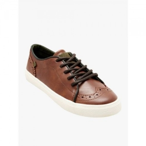 next Tan Leather Regular Sneakers