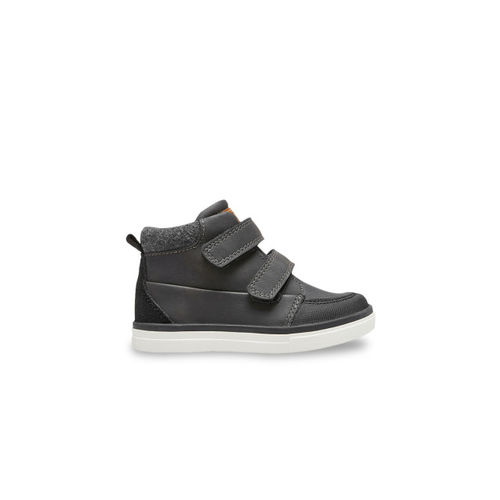 next Boys Grey Solid Mid-Top Flat Boots