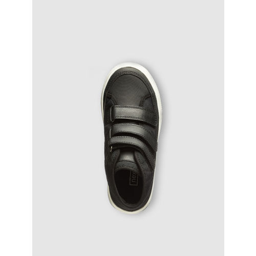 next Boys Black Solid Mid-Top Sneakers
