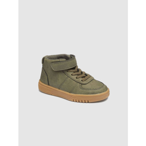 next Boys Green Solid Mid-Top Sneakers