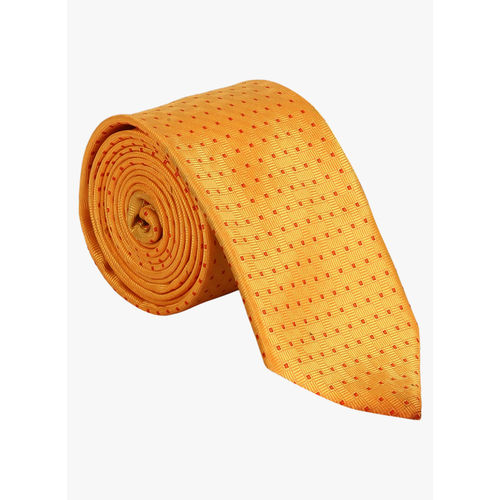 Park Avenue Yellow Woven Design Broad Tie