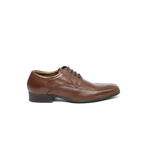 INVICTUS Men Brown Leather Derbys