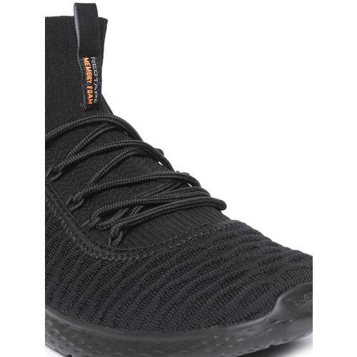 Red Tape Men Black Mid-Top Walking Shoes