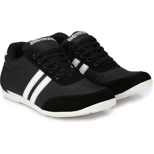 Andrew Scott Sporty Look Sneakers For Men(Black)