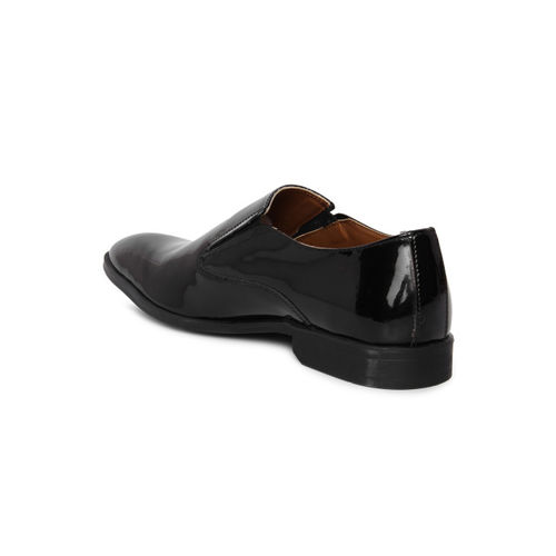 Arrow Men Black HAYES Patent Leather Formal Slip-On Shoes