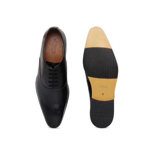 Arrow Men Black CASSIUS Leather Oxfords