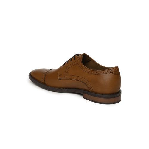 Arrow Men Tan Brown Bale Leather Brouges