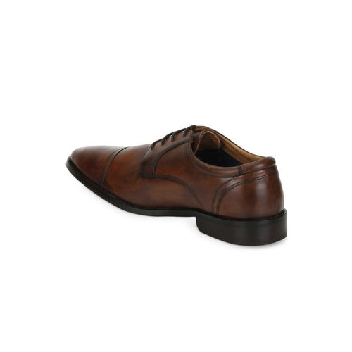 Park Avenue Men Brown Formal Leather Derby Shoes