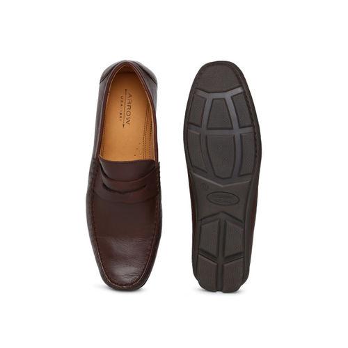 Arrow Men Brown FILLMORE Semi-Formal Leather Loafers