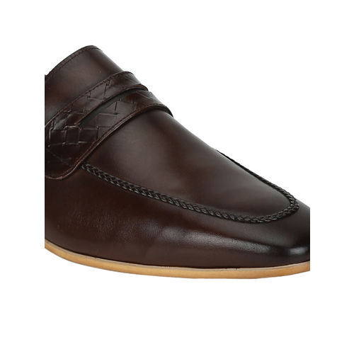 Park Avenue Men Brown Formal Leather Slip-On Shoes