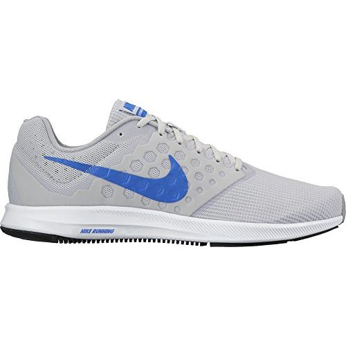 NIKE Mens Downshifter 7 Running Shoe Pure Platinum/Hyper Cobalt/Wolf Grey 13