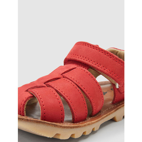 next Boys Red Solid Sandals