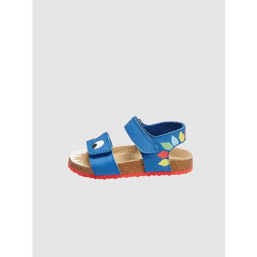 next Boys Blue Leather Sandals