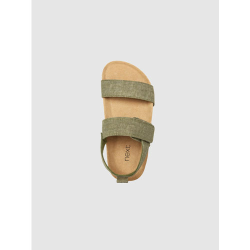 next Boys Olive Green Solid Sandals