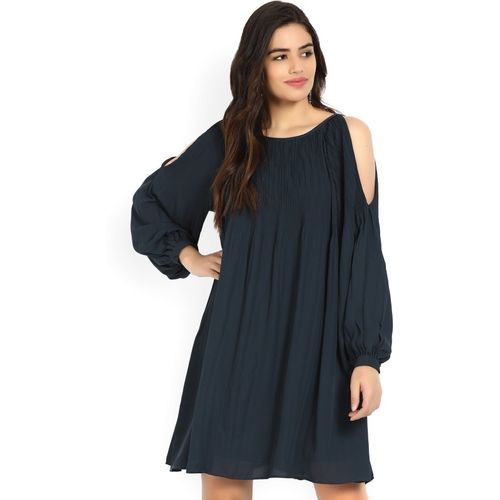Vero Moda Women A-line Dark Blue Dress