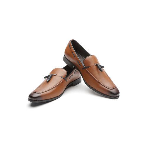 INVICTUS Men Tan Brown Solid Semiformal Slip-Ons