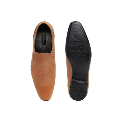 Franco Leone Men Tan Brown Leather Semiformal Slip-Ons