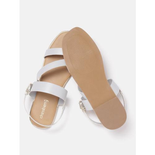 DressBerry Women Grey Solid Open Toe Flats