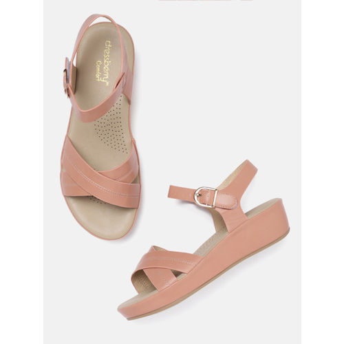 DressBerry Comfort Women Pink Solid Open Toe Flats