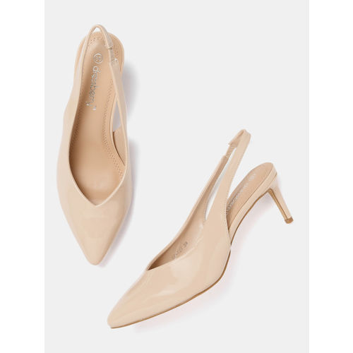 DressBerry Women Beige Solid Pumps