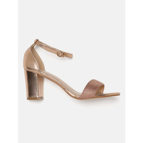 DressBerry Women Rose Gold Solid Heels