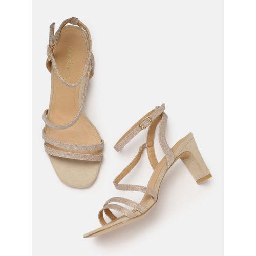 DressBerry Women Rose Gold-Toned Solid Heels