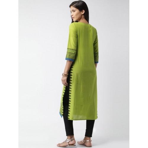 Moda Rapido Green Printed Kurta
