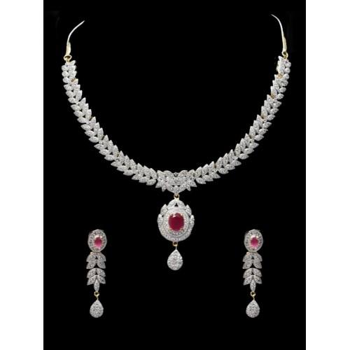 Buy Estonished American Diamond Necklace Set Online Looksgud In