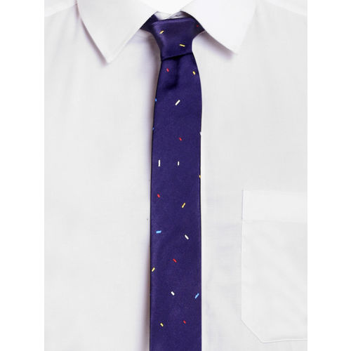 Blacksmith Blue Printed Skinny Tie