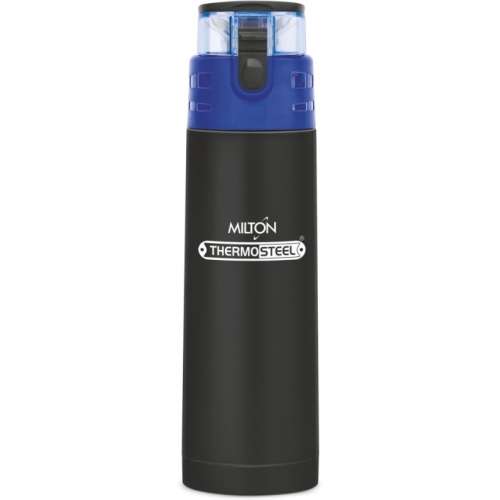 Milton ATLANTIS 600  Black Thermosteel Vaccum Insulated Hot & Cold Water Bottle 500 ml Bottle(Pack of 1)