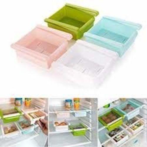 Lucky Box Multi-Purpose Storage Rack Creative Kitchen Box Freezer Storage Rack Shelf Pack of 2(Color May Vary)