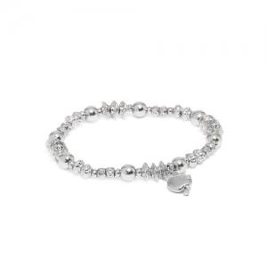 Accessorize Silver-Toned Metal Elasticated Bracelet