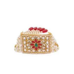 Zaveri Pearls Gold-Toned Multistrand Bracelet