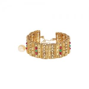Zaveri Pearls Gold-Plated Link Bracelet