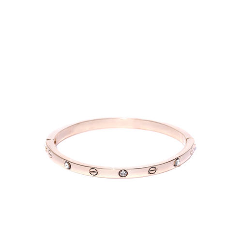Jewels Galaxy Gold-Plated Handcrafted Bangle-Style Bracelet