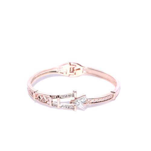 Jewels Galaxy Rose Gold-Plated Handcrafted Cuff Bracelet
