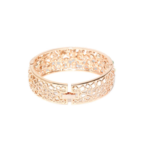 Jewels Galaxy Multicoloured Rose Gold-Plated Handcrafted Bangle-Style Bracelet