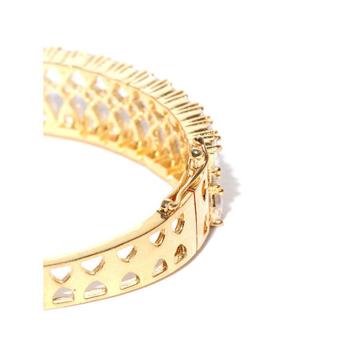 Jewels Galaxy Gold-Plated Handcrafted Stone Studded Bangle-Style Bracelet