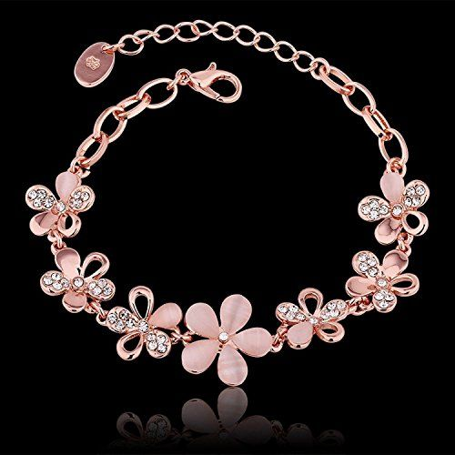 Jewels Galaxy Swarovski Elements Copper Charm Bracelet for Women (Multicolour)(BNGG-3020)