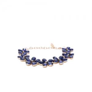 YouBella Navy Blue Gold-Plated Handcrafted Link Bracelet